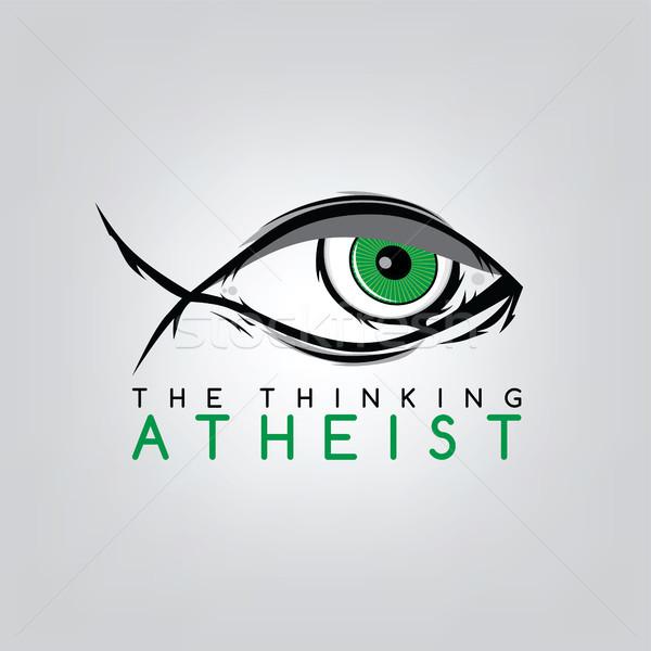Vallásos tudatlanság kampány vektor művészet Isten Stock fotó © vector1st