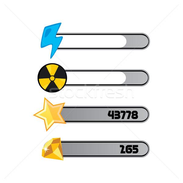 Jogo ativo menu camada jogo vídeo ícone Foto stock © vector1st