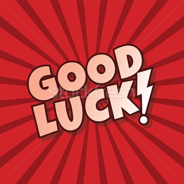 good luck greeting cartoon Stock photo © vector1st