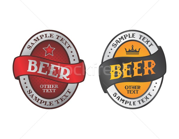 Cerveza etiqueta vector gráfico arte diseno Foto stock © vector1st