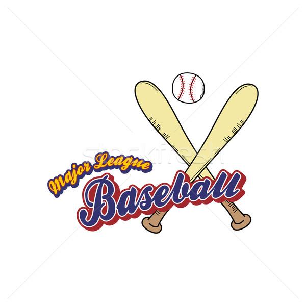 baseball league sport theme Stock photo © vector1st