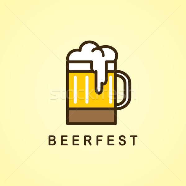 Bebida fría cervecería vector arte ilustración cerveza Foto stock © vector1st