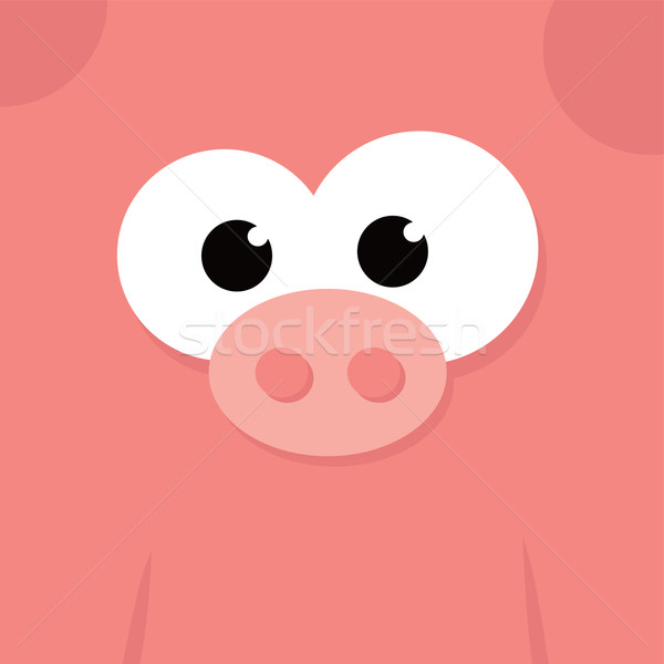 funny fat pig Stock photo © vector1st