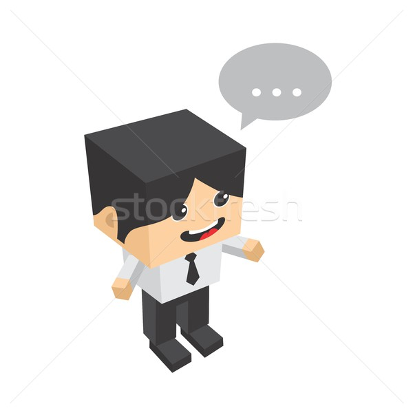 block isometric cartoon character Stock photo © vector1st