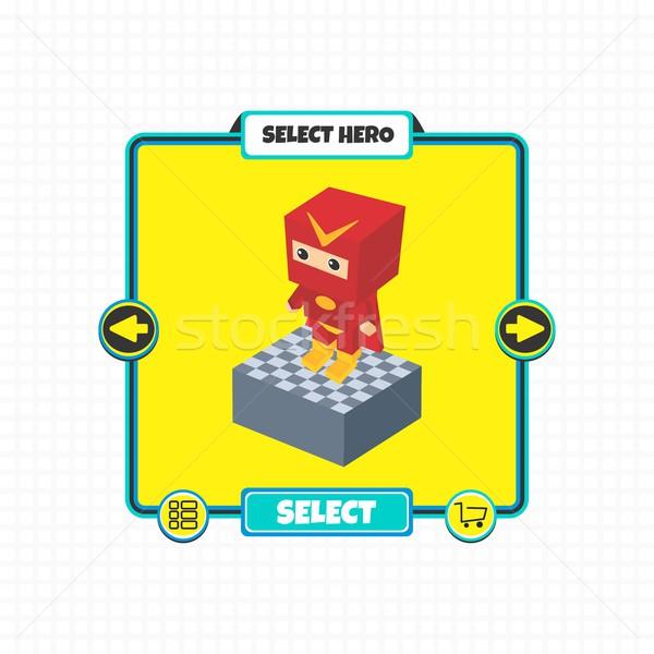 Held karakter optie spel element Stockfoto © vector1st