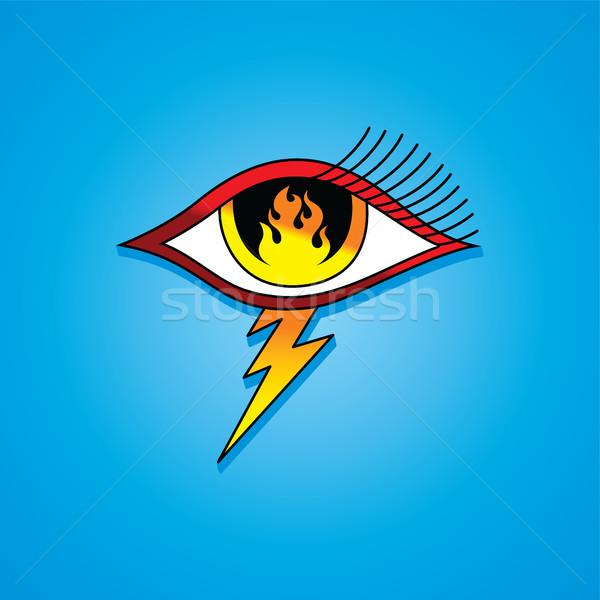 пламени глаза символ один вектора искусства Сток-фото © vector1st