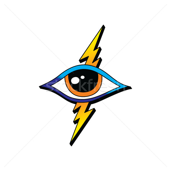 bolt lightning eye symbol theme Stock photo © vector1st