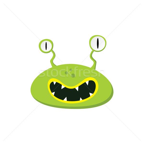 Cute прелестный уродливые Scary смешные талисман Сток-фото © vector1st