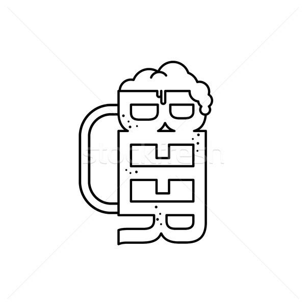 Frio vidro cerveja vetor arte ilustração Foto stock © vector1st