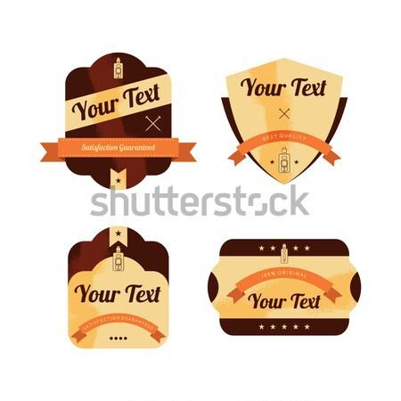 Retro exclusief label vector kunst illustratie Stockfoto © vector1st
