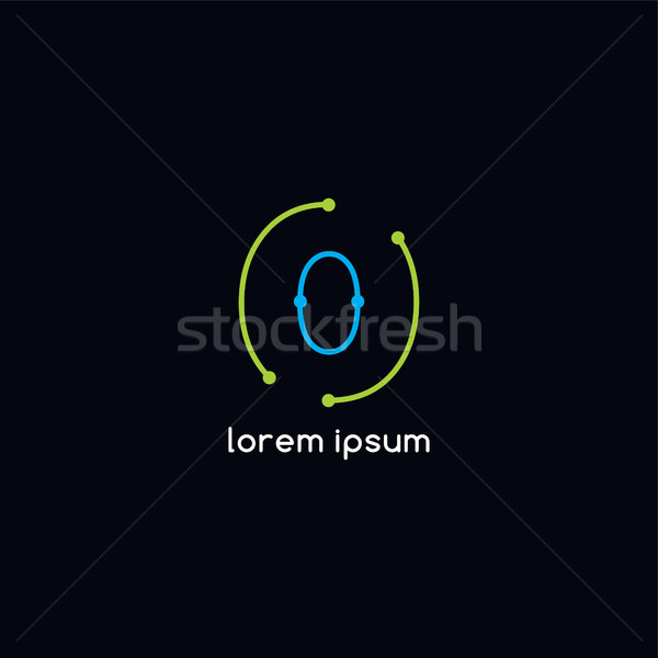 path trace vector outline logotype theme Stock photo © vector1st