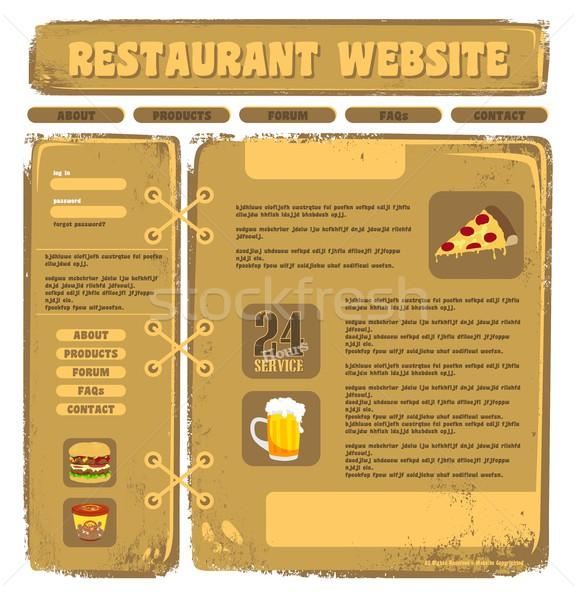 żywności pić wektora graficzne sztuki Zdjęcia stock © vector1st