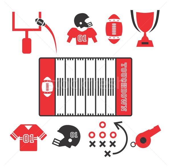 Amerykański piłka nożna wektora graficzne sztuki projektu Zdjęcia stock © vector1st