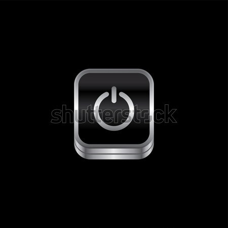 metal plate theme icon button Stock photo © vector1st