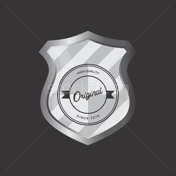 insignia shield product label art Stock photo © vector1st