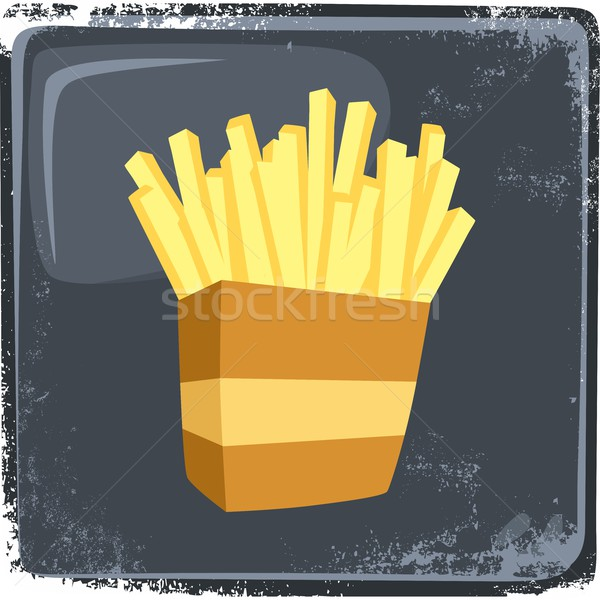 food and drink theme french fries Stock photo © vector1st