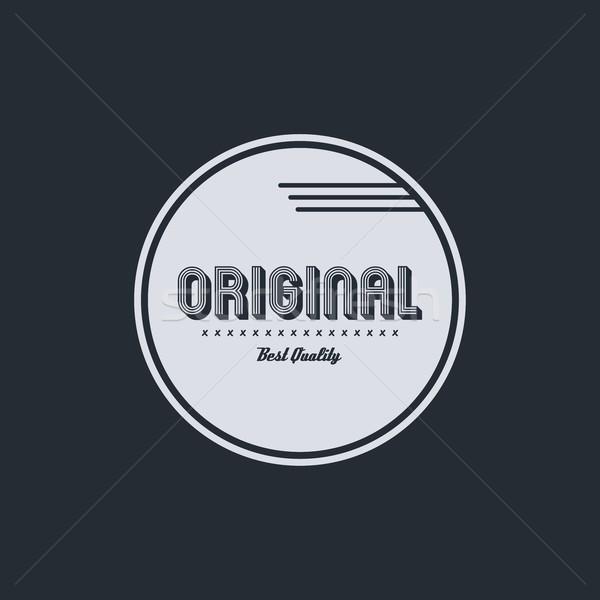 оригинальный Знак вектора искусства графических иллюстрация Сток-фото © vector1st