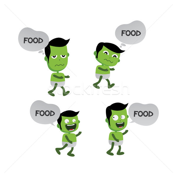 green zombie monster character Stock photo © vector1st