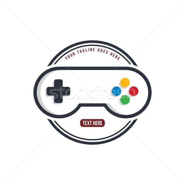 Casa videojuegos palanca de mando logo plantilla Foto stock © vector1st
