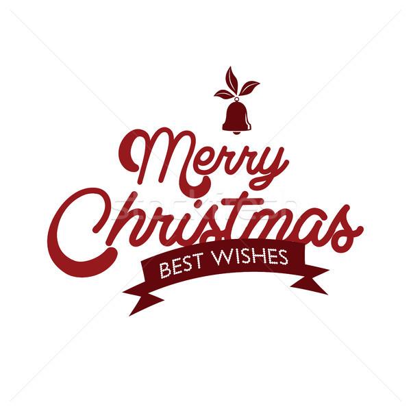 веселый Рождества с Новым годом вектора искусства Иисус Сток-фото © vector1st