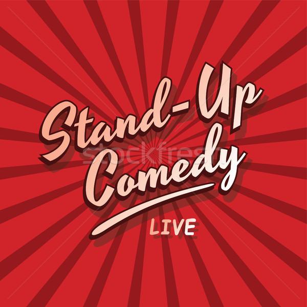 Stand up comédie vivre vecteur art Photo stock © vector1st