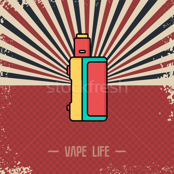 retro vaporizer electric cigarette vapor mod - vape life Stock photo © vector1st