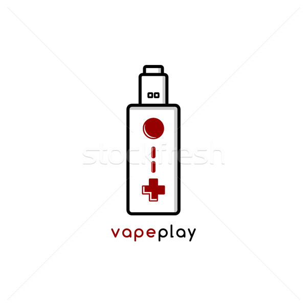 video game joystick console theme vaporizer vape Stock photo © vector1st