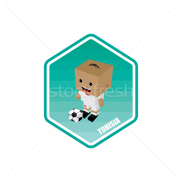 soccer isometric theme tunisia Stock photo © vector1st