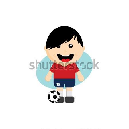 Grup takım Rusya futbol turnuvası vektör sanat Stok fotoğraf © vector1st