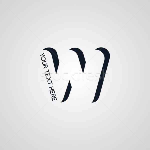 手紙 ロゴタイプ ベクトル 芸術 実例 ビジネス ストックフォト © vector1st