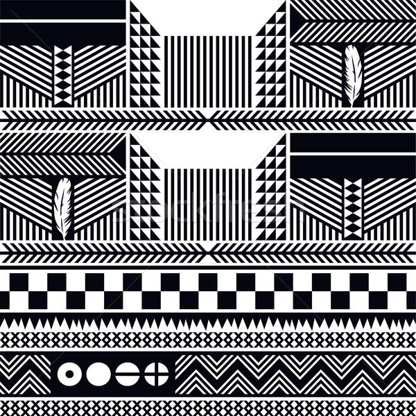 Ureinwohner Muster Tribus Kultur Vektor Kunst Stock foto © vector1st
