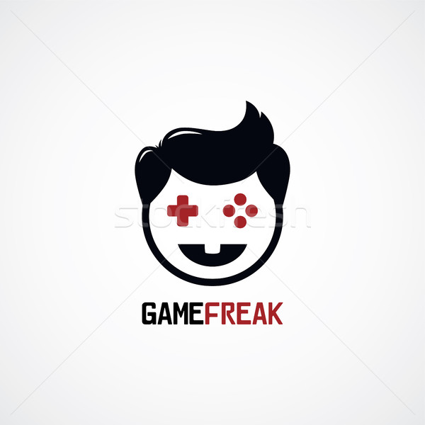 video game freak boy joystick logotype Stock photo © vector1st