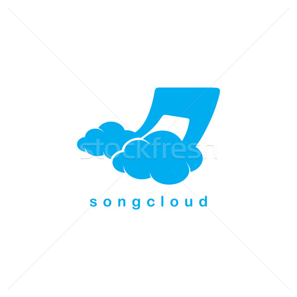 Lied wolk opslag vector kunst illustratie Stockfoto © vector1st