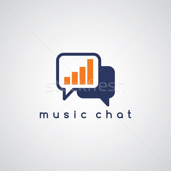 Música ecualizador chat vector arte ilustración Foto stock © vector1st