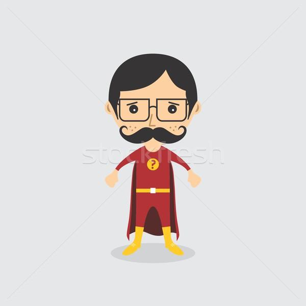 Szuperhős rajzfilmfigura avatar vektor grafikus művészet Stock fotó © vector1st