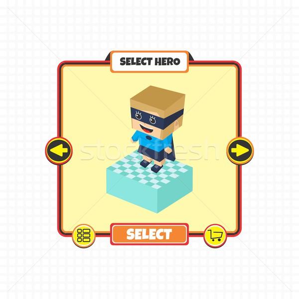 Stockfoto: Held · karakter · optie · spel · element