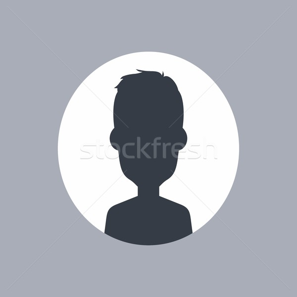 unknown male silhouette Stock photo © vector1st