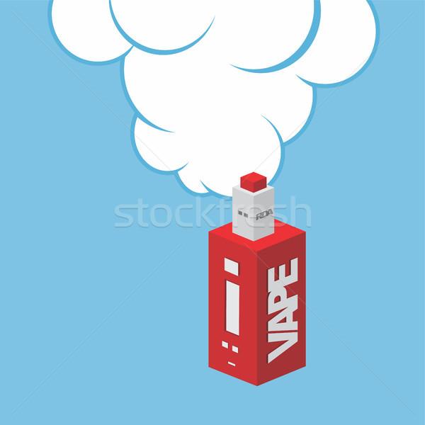 изометрический электрических сигарету личные вектора искусства Сток-фото © vector1st