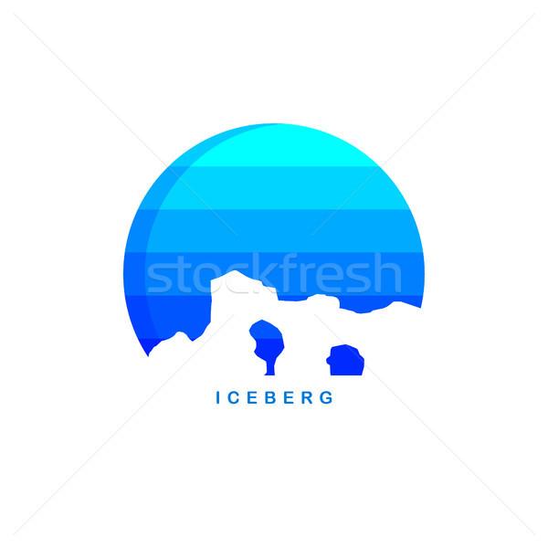 Buz logo şablon vektör kar Stok fotoğraf © vector1st