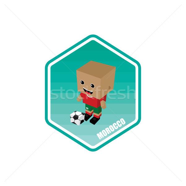 Futbol izometrik Fas vektör sanat karikatür Stok fotoğraf © vector1st