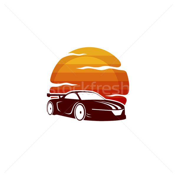 sport car sign symbol theme vector Stock photo © vector1st