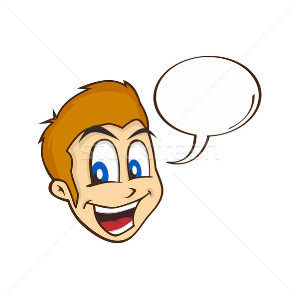 Сток-фото: Cartoon · парень · характер · лице · счастливым