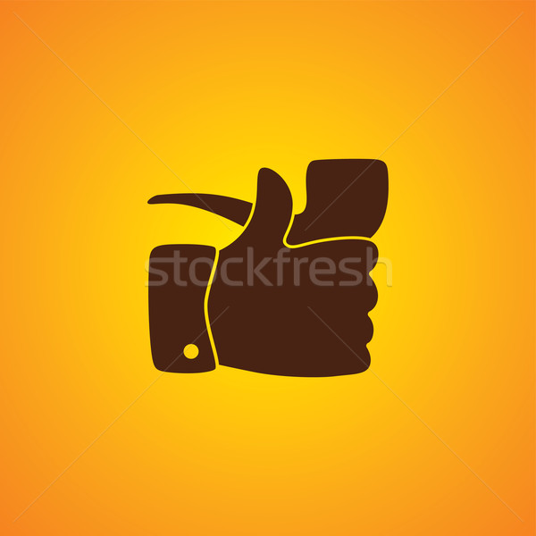 pipe smoker like thumb up Stock photo © vector1st