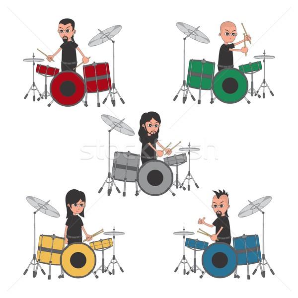 Desenho animado cara vetor gráfico Foto stock © vector1st