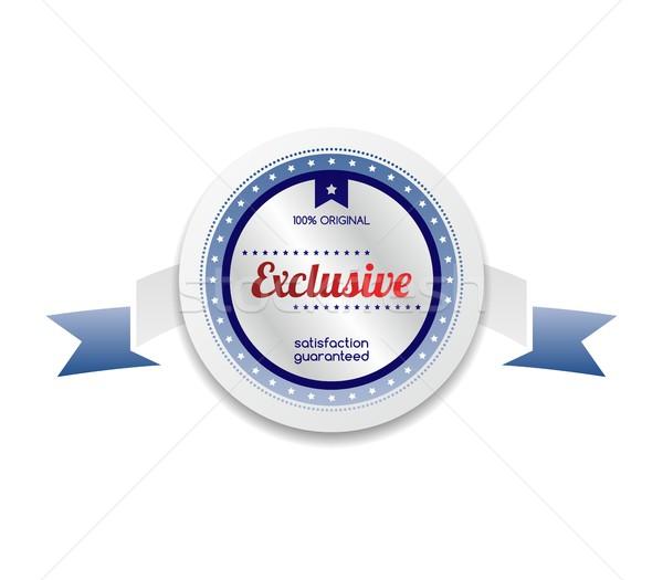 Exclusief product verkoop kwaliteit label sticker Stockfoto © vector1st