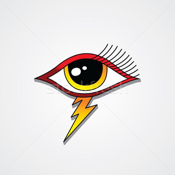 Bullone fulmini occhi simbolo vettore arte Foto d'archivio © vector1st