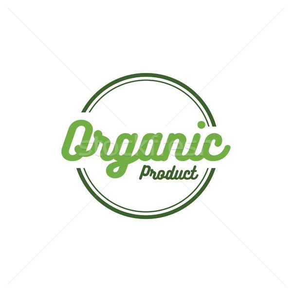 vector round retro grunge label for bio organic product Stock photo © vector1st