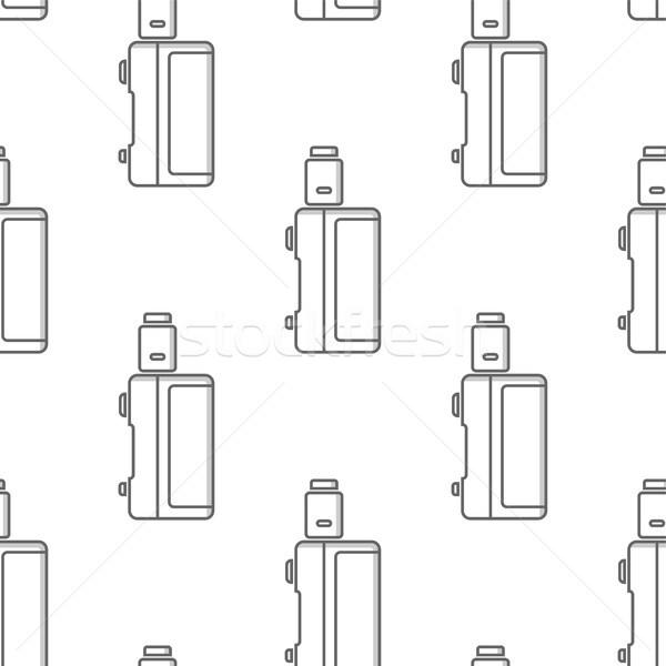 Végtelen minta elektronikus cigaretta vektor művészet mosoly Stock fotó © vector1st