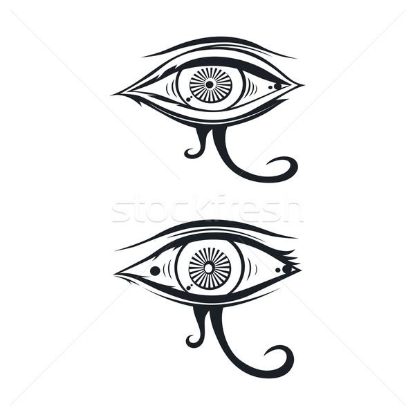 眼 1 ベクトル 芸術 実例 デザイン ストックフォト © vector1st