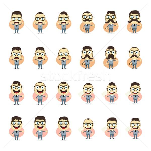 Biznesmen cartoon zestaw wektora sztuki ilustracja Zdjęcia stock © vector1st